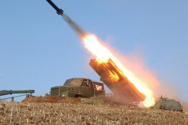 圖為北韓早前發射的ICBM「火星14號」。(路透)