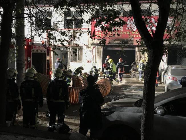 北京大興西紅門鎮新建村發生火災,已造成19人死亡。(新華社)