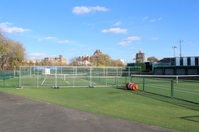 西城網球俱樂部之前一直是美國網球公開賽的舉辦地。(記者劉大琪/攝影)
