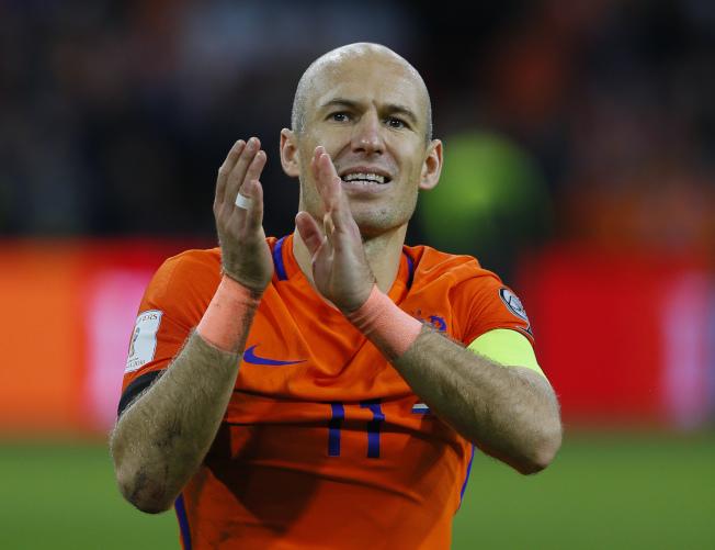 世界杯上再也看不到「小飛俠」羅本飛奔的英姿。(美聯社)