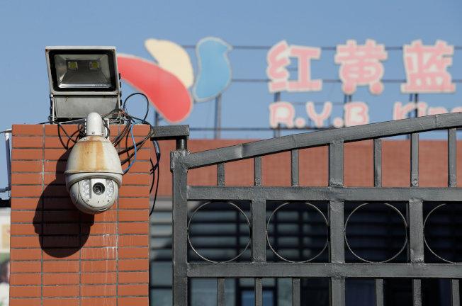 爆出虐童案的北京朝陽區新天地的紅黃藍幼兒園。(路透)