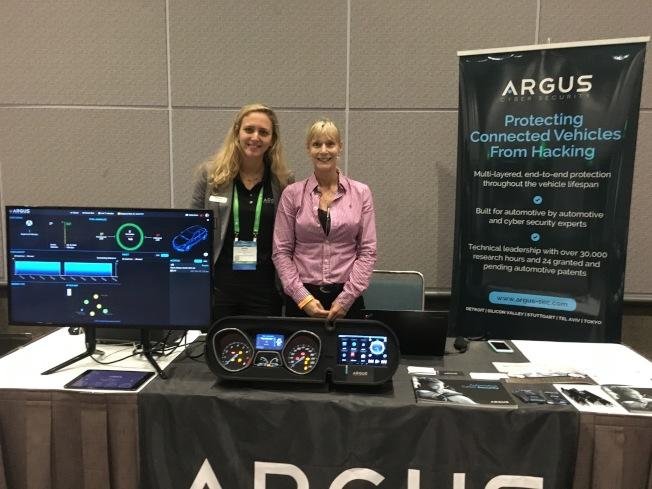 汽車網路安全公司Argus Cyber Security行銷總監Monique Lance說,如不想被攻擊,就要持續更新防護程式。(記者謝雨珊/攝影)
