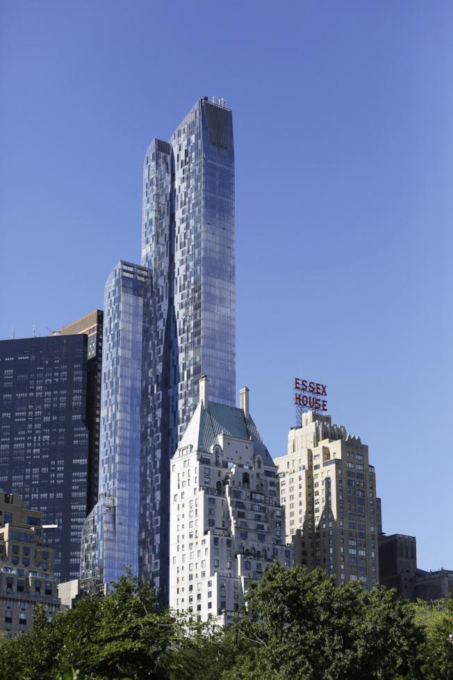 紐約市最頂級的One57豪華公寓摩天大樓。(美聯社)