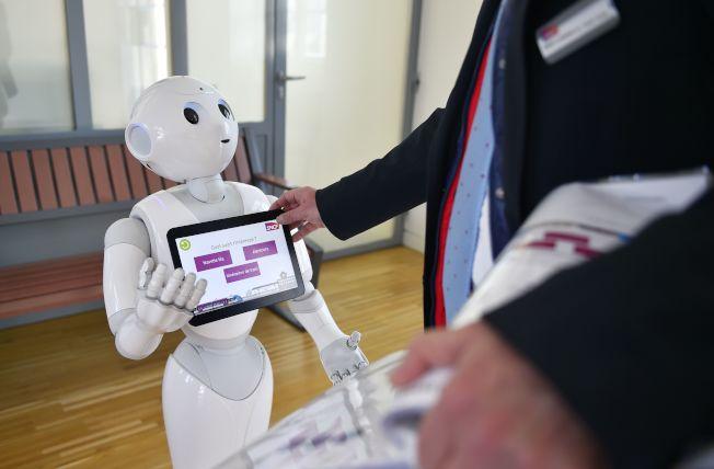 可擔任銷售助理的「Pepper」機器人。(Getty Images)