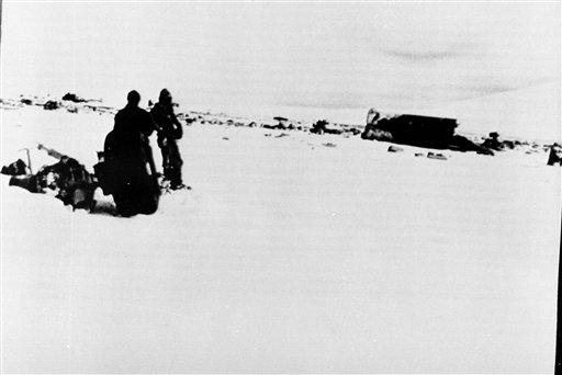 紐西蘭航空空難現場。美聯社