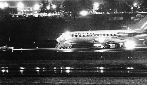 遭到劫機的西北航空波音727班機。美聯社