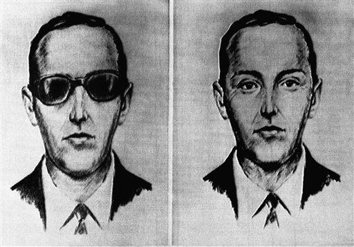 劫機者D. B. Cooper當天的妝扮。美聯社