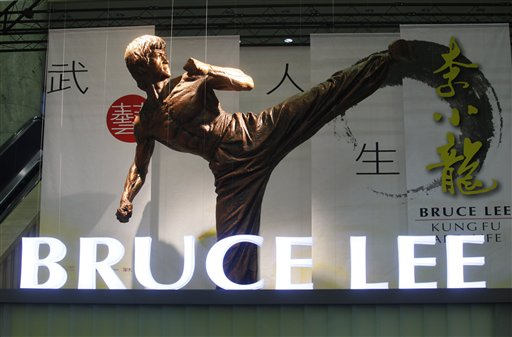 李小龍逝世40多年,但直到今日仍未被人遺忘。許多人更是因為李小龍才認識華人武術。(美聯社)