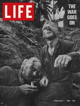 1966年2月11日,生活雜誌封面為越戰時期的傷兵。(WikiCommons)