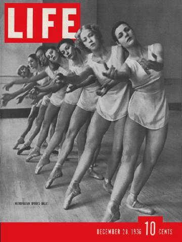 1936年12月28日的生活雜誌以美國芭蕾舞者作為封面。(圖取自Old LIFE Magazines網站)