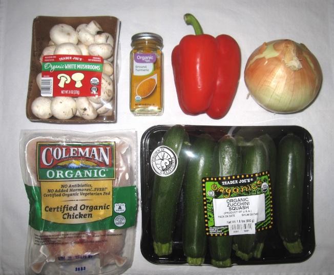 什錦蔬菜薑黃雞材料