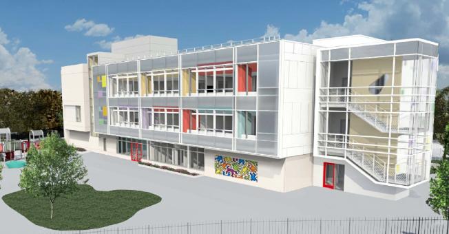 科學館旁停車場蓋建的學前班學校模擬圖。(取自網路)
