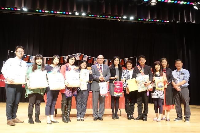 維德中校與新北市五校簽署姊妹校協議,創校史紀錄。(記者謝哲澍/攝影)