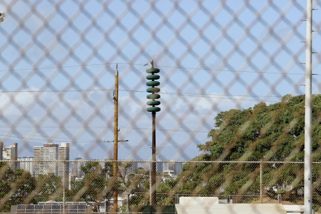 夏威夷民防警報器。許多老居民1日聽到空襲警報時表示,彷彿重新回到冷戰時期的核威脅年代。(美聯社)