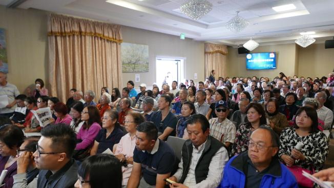 「金屋銀屋不如自己ADU」講座,約兩百名華裔屋主擠爆會場。(記者李雪/攝影)
