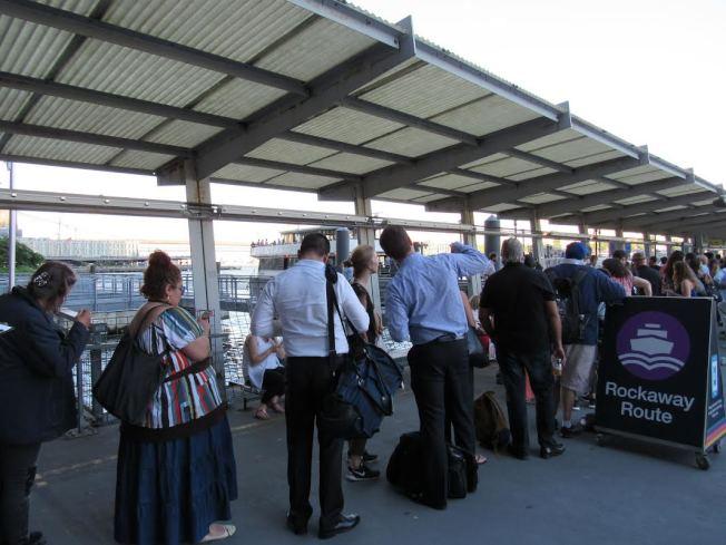 乘客激增,紐約市渡輪擬增快線。(記者顏嘉瑩/攝影)