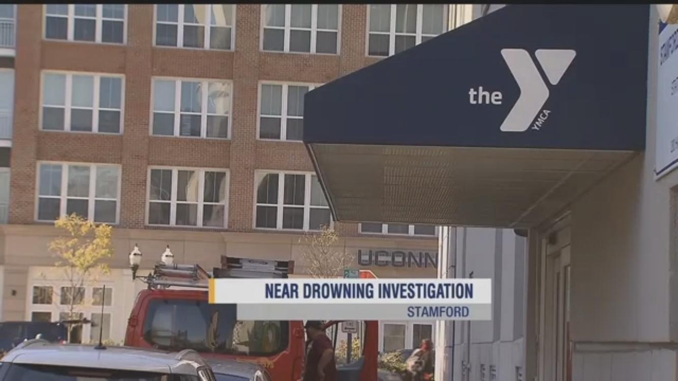 楊昭杰於YMCA游泳池溺水。(News 12 Connecticut視頻截圖)
