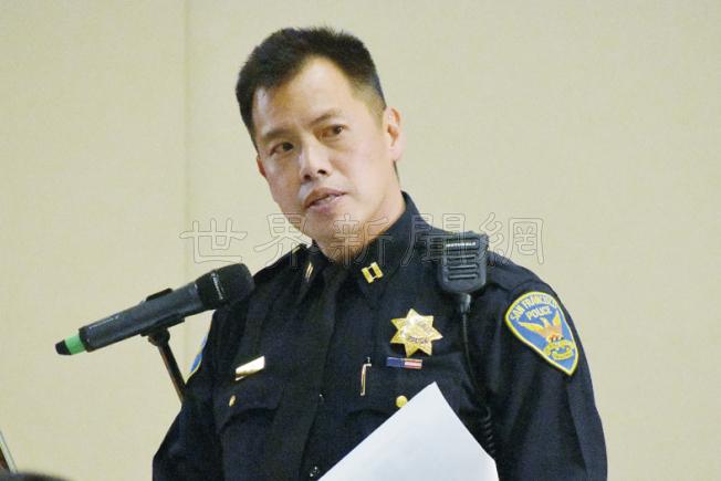 中央分局長葉培恩稱,他十分重視連串麻將館劫案,已全力追查中。(記者李秀蘭/攝影)