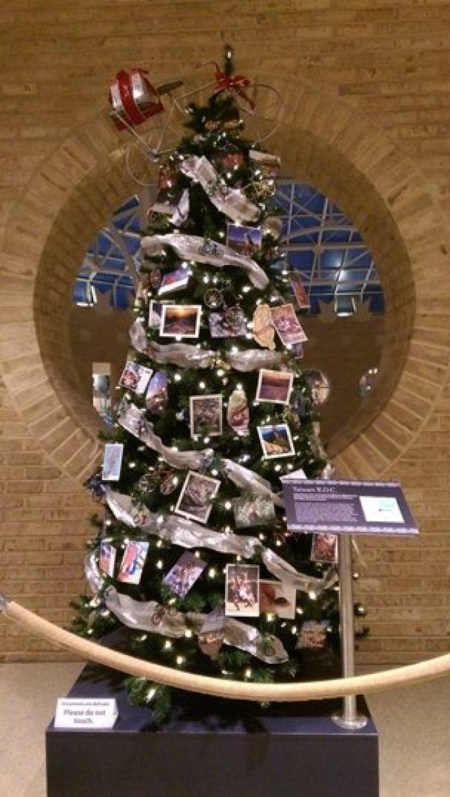 以「Taiwan R. O. C.」標示的台灣聖誕樹。(取自經文處臉書)