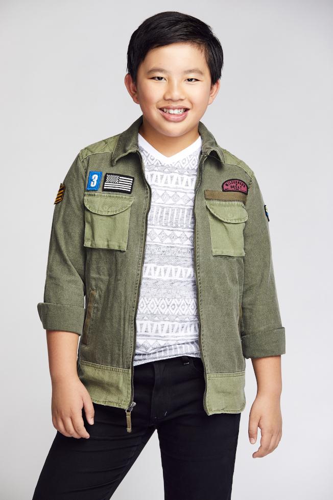 13歲的蔡丞恩已經是老演員啦。(Wes Klain圖片)