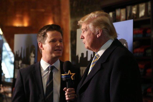 比利布希與總統候選人川普談話,荒誕不堪。(Getty Images)