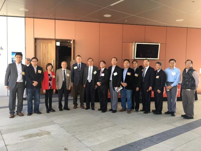 中華科工會舉行「大數據之相關科技發展和應用領域科技研討會」,全體理事與演講者合影。(記者陳良玨/攝影)
