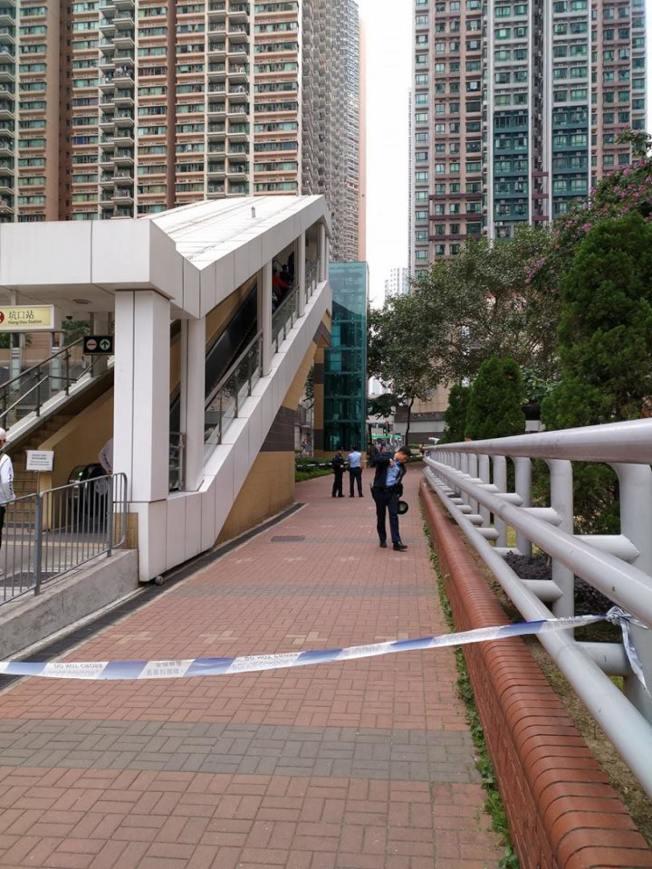 區議員助理陳志豪在將軍澳發現兩名路人被BB彈射傷。(取材自臉書)