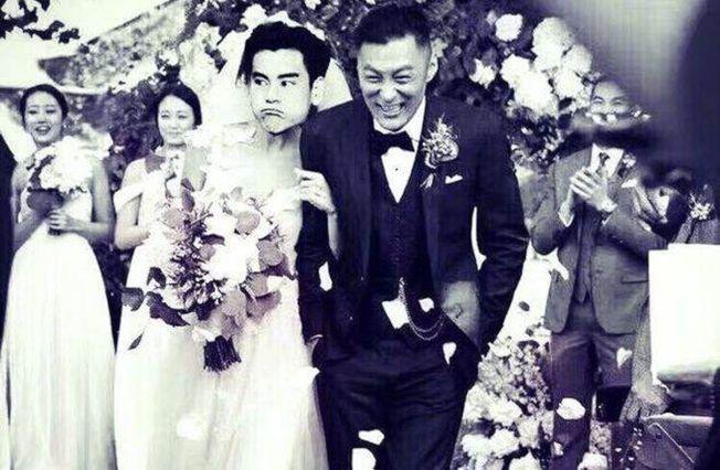 余文樂宣布結婚,好友彭于晏祝福之餘把新娘P成自己!(取材自微博)