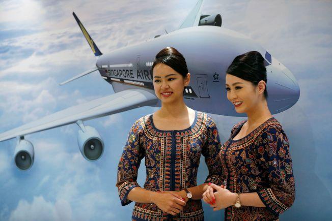 新加坡航空更改飛機航線,避免遭北韓飛彈擊落。(圖/路透)
