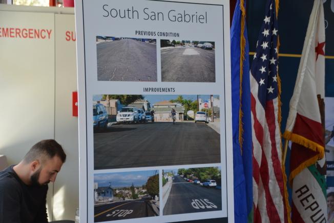 此次道路整修工程總長度達11.7哩。(記者高梓原/攝影)