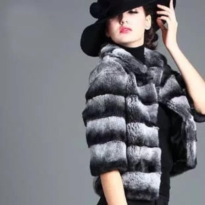 貂皮外套。