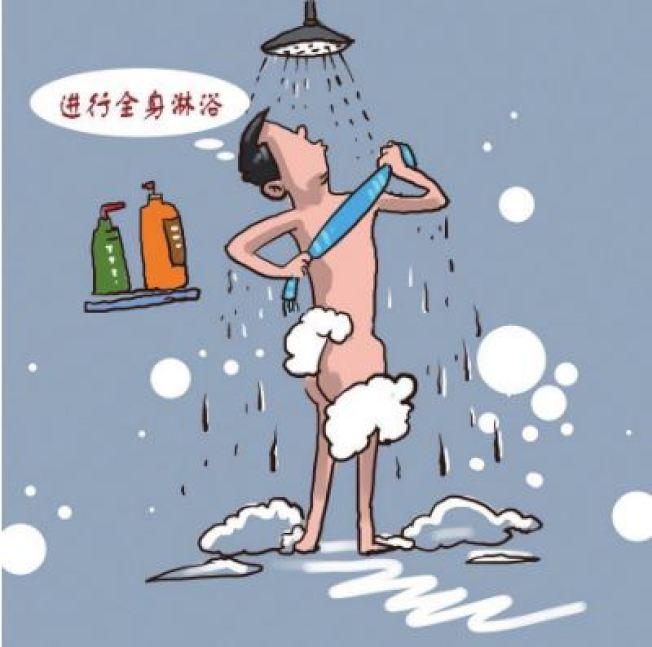 吉林日報刊登消除放射性汙染漫畫。(取材自吉林日報)
