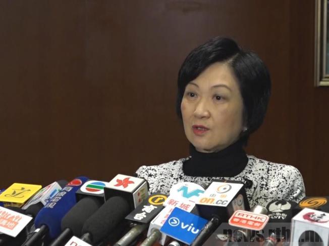 葉劉淑儀表示,有錄音證據收到恐嚇,暫時未打算報警。(取材自香港電台)
