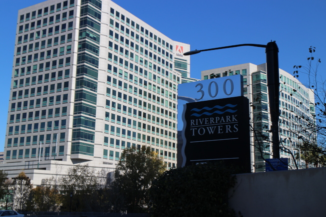 Cohesity將告別聖他克拉拉市,辦公室落腳Adobe對面的Riverpark Tower II。(記者張毓思/攝影)