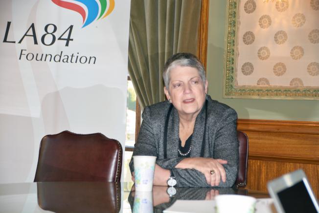 加州大學總校長納波利塔諾表示,未來加大招生政策不變,繼續維持族裔中立。(記者丁曙/攝影)