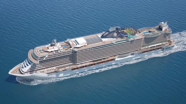 MSC Cruises的海濱級遊輪進駐邁阿密港,12月下旬起啟航加勒比海度假航程。(截自視頻)