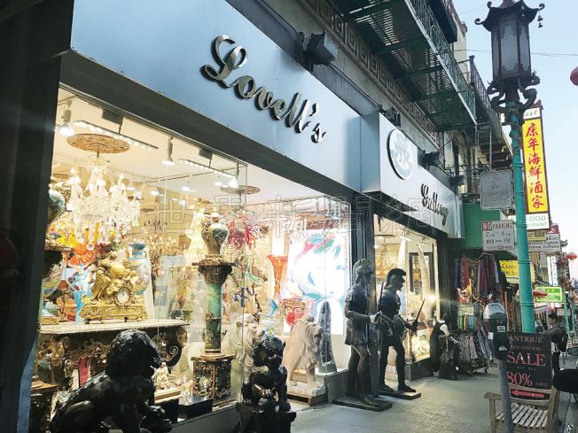 被檢控的禮品店在華埠都板街上,但並非由華人經營。(記者李秀蘭/攝影)