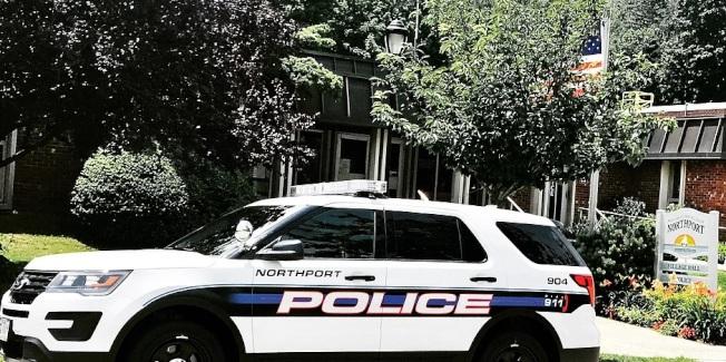美國紐約州北點警車。取字北點警察局官網