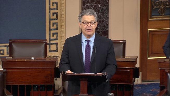 涉及性騷擾的國會參議員宣布,他將會辭職。(路透)