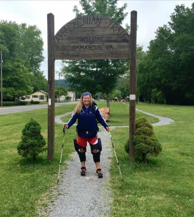 史黛西•柯茲爾在東部縱走時經過維吉尼亞州。(取自臉書)