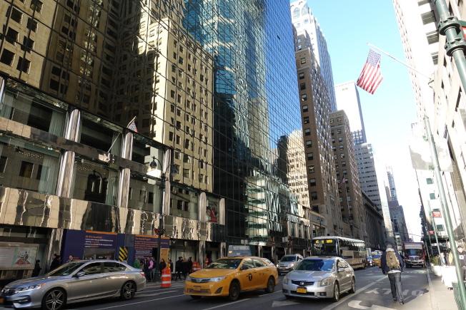 曼哈頓中城東區多為金融商業樓宇。(記者金春香╱攝影)