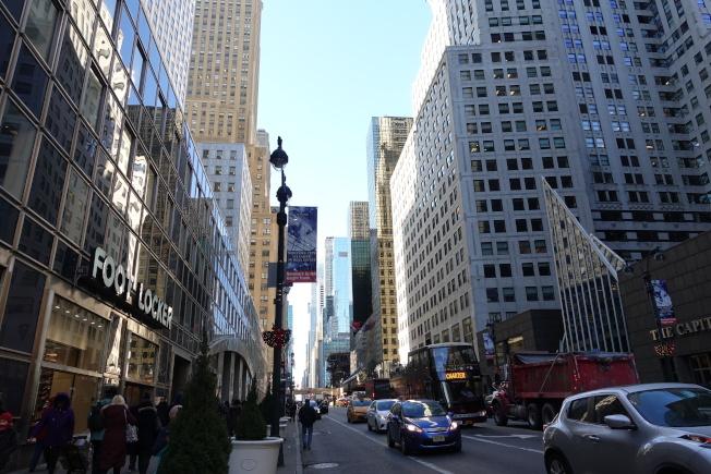 曼哈頓中城東區多為金融商業樓宇,多年來難有新樓盤開發。(記者金春香╱攝影)