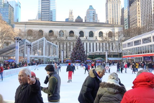布萊恩公園是紐約市民眾喜愛的公共場所。(記者金春香╱攝影)
