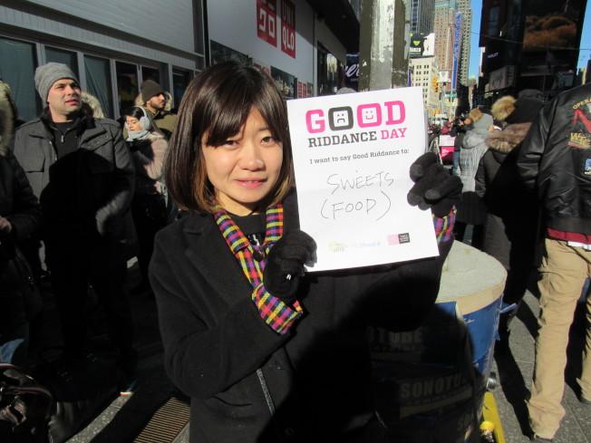 Hiromi Oikawa希望自己能戒掉甜食,重拾健康的飲食習慣。(記者顏嘉瑩/攝影)