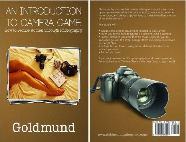 一名攝影師出書惹議,書名為「相機遊戲指南:如何透過攝影誘惑女性」。圖為此書封面及封底。圖擷自亞馬遜官網