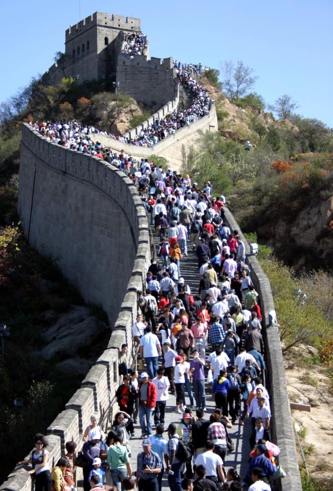 美國旅遊指南Fodor's發表2018年「不要去」的指南,北京和萬里長城名列其中。圖為八達嶺長城。(新華社資料照片)