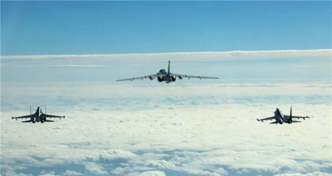 中共軍機近日頻繞台,引發關注。 圖/取自環球網