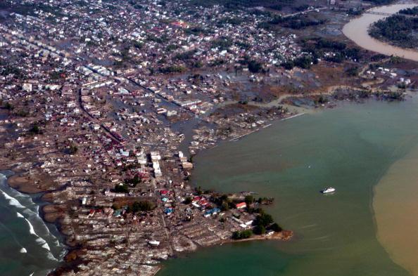 強震過後,印尼亞齊的災情。Getty Images