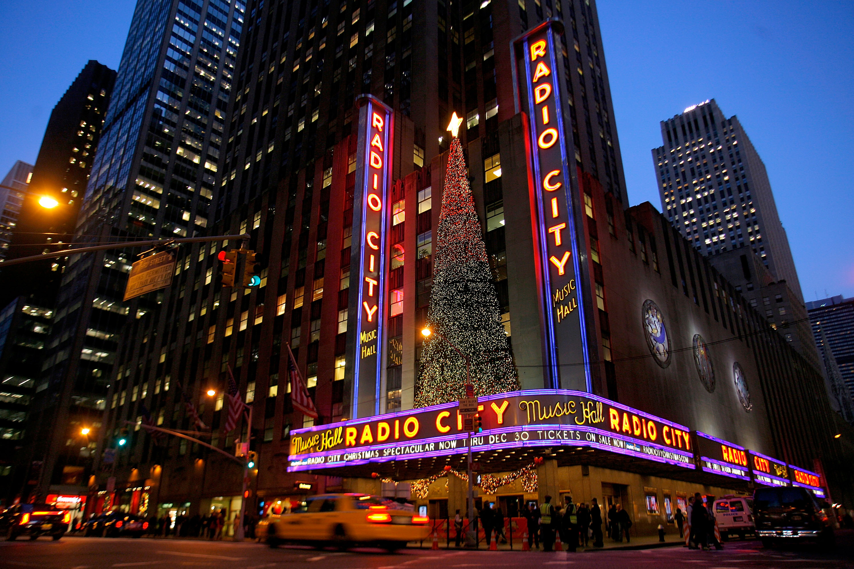 紐約曼哈頓的無線電城音樂廳(Radio City Music Hall)1932年12月27日正式開幕。(Getty Images)