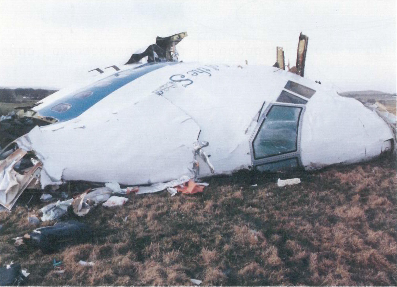 爆炸後的泛美航空103號班機殘骸。(英國政府資料庫)